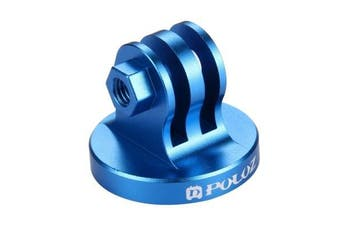 PU145 Aluminum Tripod Mount Adapter for GoPro HERO6 5 4 3 3+ 2 1 Xiaoyi Action Cameras BLUE