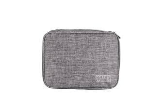 XD-DY25 Multifunction Digital Storage Bag USB Charger Earphone Organizer Portable Travel Cable Bag GREY