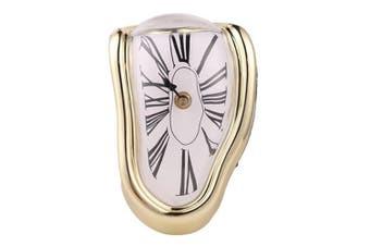 Novel Surreal Melting Distorted Wall Clock Surrealist Salvador Dali Style Wall Clock Amazing Home Decoration Gift GOLD