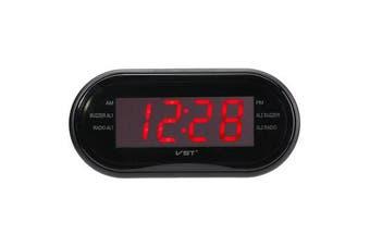 "1/2"" LED Display Alarm Clock Timer AM/FM Radio 24-Hour System Multi-function RED"