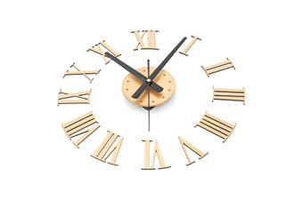 DIY Large Wall Clock Mirror Surface Sticker Modern Style Home Decoration Design gold