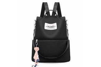 Outdoor Women Anti-Theft Backpack Oxford Cloth Waterproof Shoulder Bag Girls School Back Pack BLACK