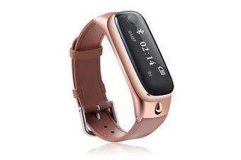 M6s bluetooth Headset Smart Bracelet Sport Tracker Sleep Moniter Smart Watch For Android IOS Phone GOLD