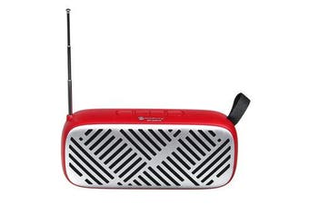 FM Radio Wireless bluetooth5.0 6W Stereo Speakers SD Card U-disk Playback Music Player RED