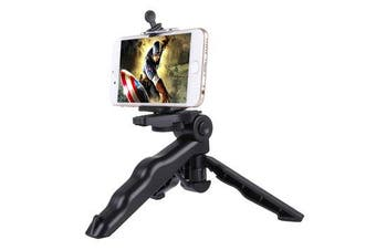 Grip Folding Tripod Mount with Adapter Screws for Gopro SJCAM Xiaomi Yi Action Camera