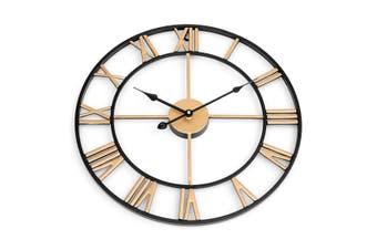 45cm Large Wall Clock Big Roman Numerals Giant Open Face Metal For Home Outdoor Garden GOLDEN