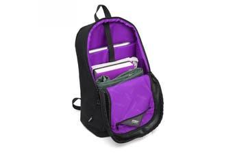 8017 Large Capacity 2 in 1 DSLR Camera Bag Shoulder Padded Waterproof Backpack PURPLE