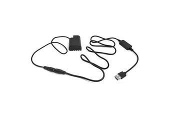 External USB Power Adapter Supply for Panasonic Lumix DMC-GH3 DMC-GH4 GH5 GH4 GH5s G9 Camera