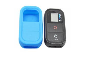 Soft Rubber Silicone Case Protective Housing Case Cover for Gopro Hero 3 3 Plus 4 Remote Controller BLUE