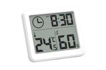 5pcs Multifunction Thermometer Hygrometer Automatic Electronic Temperature Humidity Monitor Clock 3.2inch Large LCD Screen