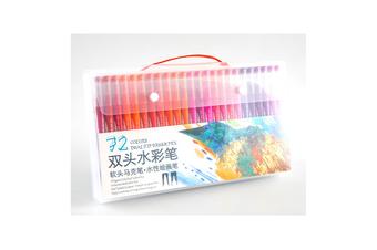 72 Pcs Colors FineLiner Dual Tip Brush Pens Drawing Painting Watercolor Art Marker Pen School Supplies