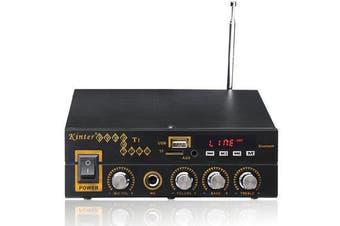 T1 2X25W Digital bluetooth Stereo Amplifier Support TF FM USB Microphone EU 12V/220V