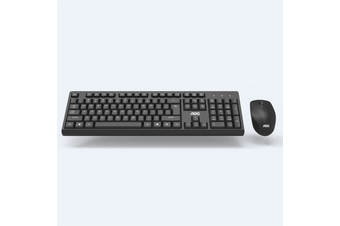 KM210 Wireless Keyboard & Mouse Set 104 keys Waterproof Keyboard 2.4 GHz USB Receiver Mouse for Computer PC