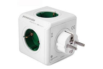 Green Charging Dock Original PowerCube Socket EU Plug 5 Outlets Adapter 16A 250V 3680W Power Cube