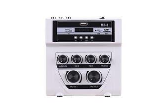 Mini Audio Mixer Sound Mixing Console Live Karaoke USB MP3 Playing Recording WHITE