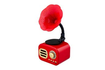 Retro Sound Phonograph Record Player bluetooth Speaker Radio Music MP3 Player RED