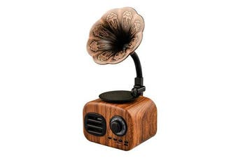 Retro Sound Phonograph Record Player bluetooth Speaker Radio Music MP3 Player WALNUT