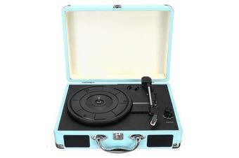 Vintage Vinyl LP Record Player Stereo Turntable 3Speed 2 Speakers Radio Recorder