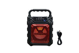 bluetooth High Power Bass Sound Speaker TF Card Music Player for Outdoor RED