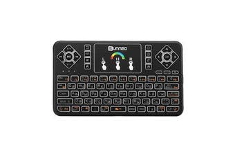 Q9 Air Mouse Russian Version Wireless Colorful Backlit 2.4GHz Touchpad Mini Keyboard