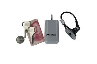 Mini Key Safe Box Outdoor Backpack Hanging Metal Hidden Password Lock Zinc alloy Fixed Code Lock Portable Key Storage Box