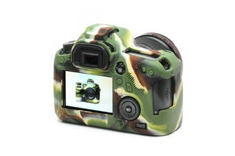 Silicone Rubber Protector Bag Body Cover Case Skin For Canon 6D CAMOUFLAGE