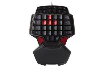T9 47 Key USB Wired Mini Single Hand Gaming Keyboard for PC Laptop