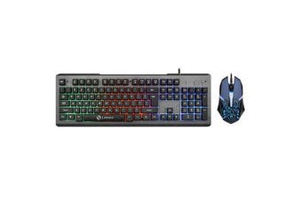 Colorful Backlight USB Wired Gaming Keyboard 2400DPI LED Gaming Mouse Combo for PC Game E-sports