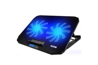 ICE COOREL Cooling Laptop Stand 5 Portable Adjustable Modes 6 Kinds Fan Speeding Choices Noiseless Design For 17 inch below Notebook