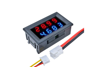 DC 100V 10A 0.28 Inch Mini Digital Voltmeter Ammeter 4 Bit 5 Wires Voltage Current Meter with LED Dual Display
