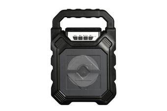 Portable Light Wireless bluetooth Speaker Subwoofer Microphone 3D Surround Sound BLACK