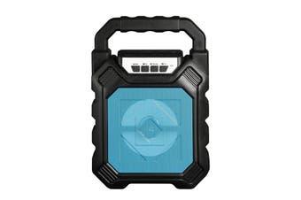 Portable Light Wireless bluetooth Speaker Subwoofer Microphone 3D Surround Sound BLUE