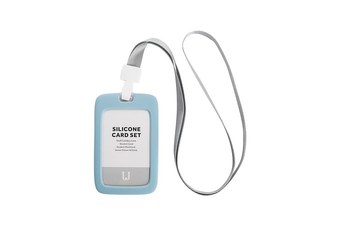 JJ-YD0010 1PC Silicone Work Card Holder with Lanyard Employee Name ID Card Cover Work Certificate Identity Badge Holder
