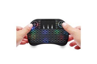 I8 Plus 2.4GHz Wireless 7 Colors Backlight Keyboard With Touchpad Mouse For TV Box/Smart TV/PC