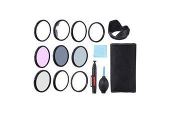 Close-up +1/+2/+4/+10 UV CPL FLD ND2/4/8 Lens Filter Hood Cap Blower Brush Kit Set 77MM