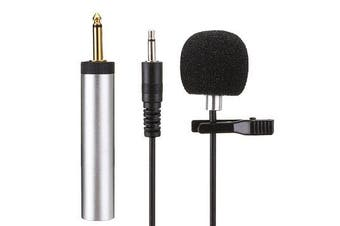 S318 Lavalier Clip-on Cardioid Capacitance Wired Microphone for Amplifier Mixer