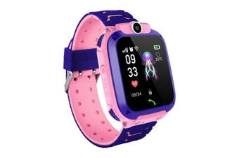 Z5 1.4in GPS Positioning HD Camera Voice Message SOS Anti-lost Chilren Smart Watch Phone LED Touch Screen Waterproof Flashlight Independent Dialing Kids Smart Bracelet PINK