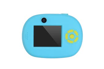 HD Children Mini Digital Camera Kids Toys Camcorder Gift Toddler Video Recorder with Dual Lens blue