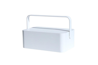 Makeup Mirrors Storage Box Dressing Table Lamp LED Light Portable Cosmetic Case Skin Care Products Storage Box WHITE COLOR