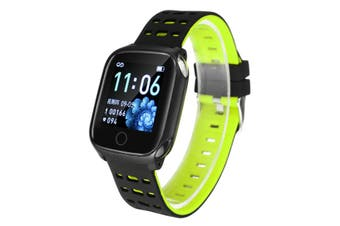 F16 1.3in Color Screen IP67 Waterproof Smart Watch ECG Heart Rate spO2 Monitor Shake Camera Sports Bracelet Fitness Tracker GREEN