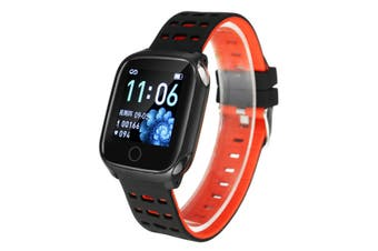 F16 1.3in Color Screen IP67 Waterproof Smart Watch ECG Heart Rate spO2 Monitor Shake Camera Sports Bracelet Fitness Tracker RED