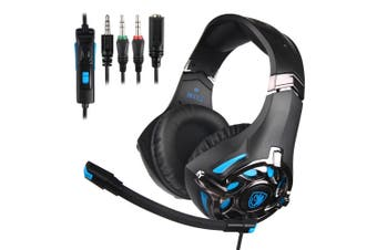 SA-822 3.5mm Stereo Noise Reduction Gaming Headphone for PS4 PC Laptop iPad Mobile Phone