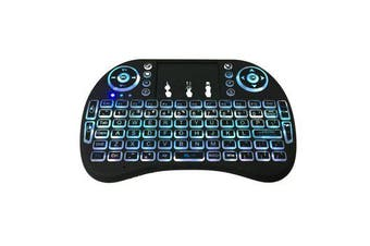 2.4GHz Wireless Rainbow Backlight Keyboard With Touchpad Mouse For TV Box/Smart TV/PC