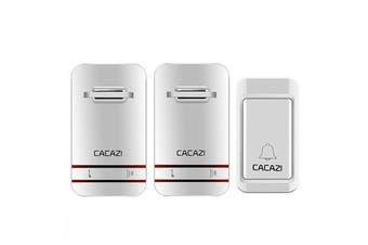 2 to 1 Wireless Doorbell No Need Battery LED Light Doorbell Waterproof Electronic Door Bell
