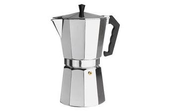 12Cups 600ML Silver Aluminum Moka Pot Octagonal Espresso Coffee Cup Grinder Stove Percolator