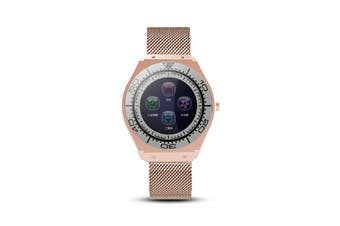Z10 2G SIM Up To 32G TFT Support HP Camera Watch Phone 1.54'' IPS Touch Screen Smart Watch Pedometer Sleep Monitor Fitness Bracelet Wristband GOLD