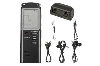 16GB Rechargeable USB Digital Audio Voice Recorder Dictaphone MP3 Player