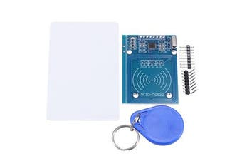 RC522 RF IC Card Reader Sensor Module with S50 Blank Card and Key Ring for Raspberry Pi, 40pin Male to Female Jumper Wires RFID Tag