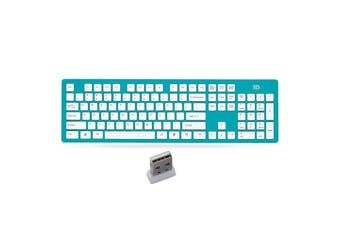 K3 Portable Wireless Silent 104 Keys Keyboard Ultra-thin USB Office Chocolate Cap Keyboard with 2.4GHz USB Receiver