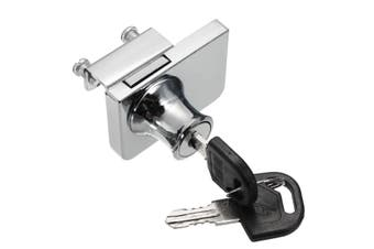 Single/Double Glass Cabicom Door Lock Cam Key Showcase Display Locking with 2 Keys